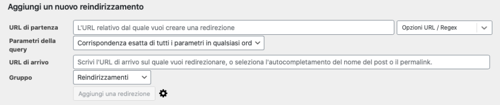 Redirect con Redirection per WordPress